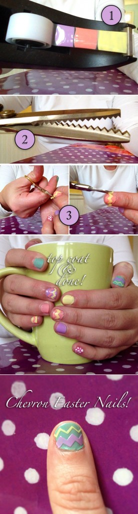 Chevron-Stripes-nail-polish-easy-easter-nails