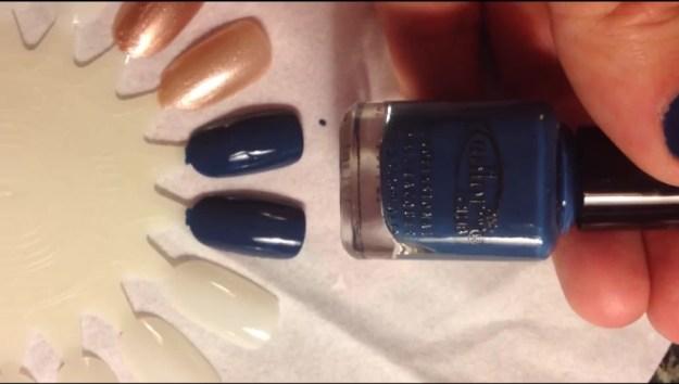 Color Club Baldwin Blues swatch nail polish