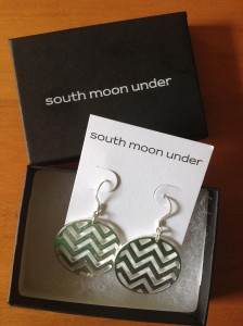 Silver Chevron Earrings from South Moon Under