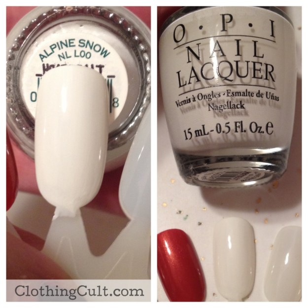 OPI nail polish Alpine Snow swatch