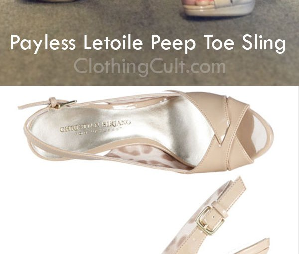 "Letoile Peep Toe Sling in ""Tan"" from Payless -Review & Pics"