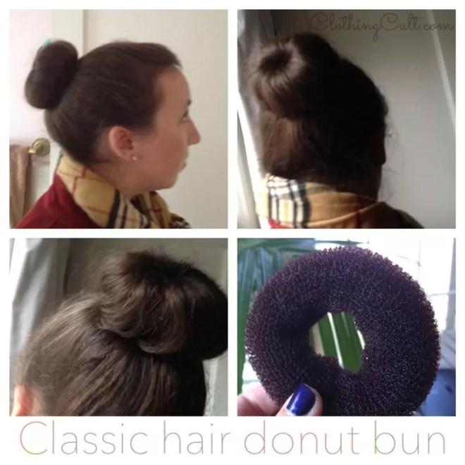 classic hair donut bun 2