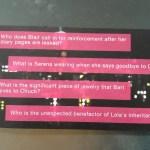 gossip girl trivia card questions