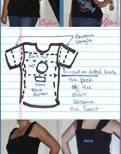 DIY T-shirt refashion: Hard Rock Cafe Maui