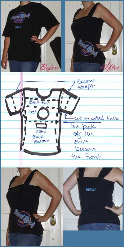 Hard Rock Cafe - DIY shirt refashion
