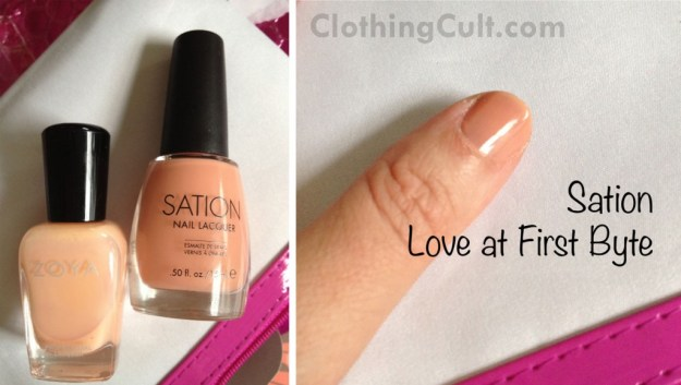 swatch Sation Love at First Byte nail polish