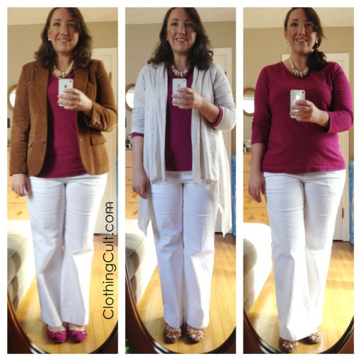 Yes, you can wear white after labor day! <br /> White jeans / pants for fall / winter