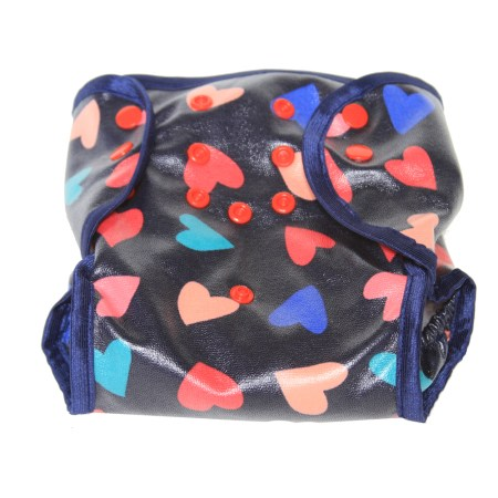 Hearts cloth nappy