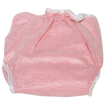 Pink &-white cloth nappy