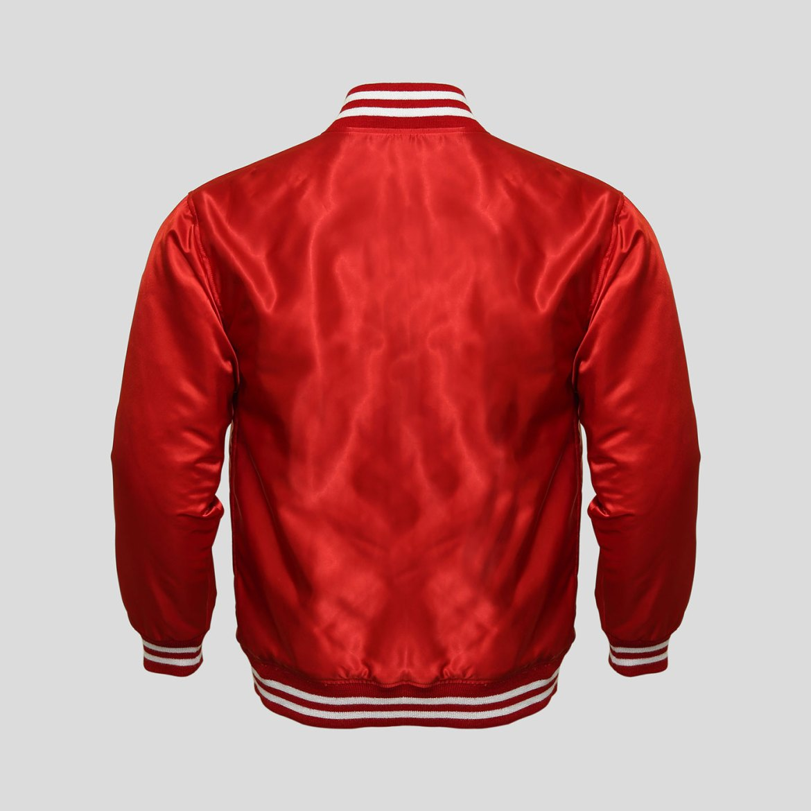 Red Satin Baseball Jacket | Outdoor Jacket