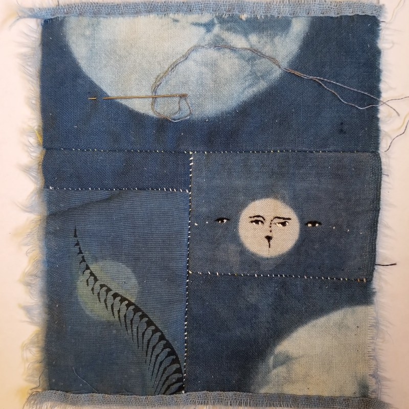patchwork as constellation. two threadcrumbs and a glennis moon, in pieces.