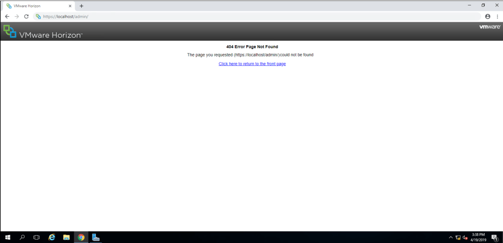 Connection server 404 error