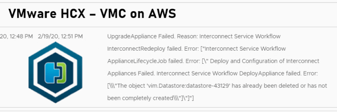 Vmware HCX - VMC on AWS