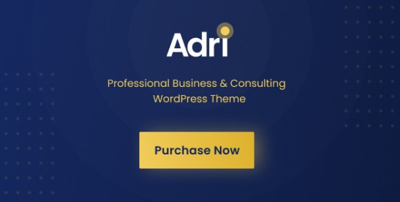 Purchase WordPress Theme   Adri - Business and Consulting WordPress Theme
