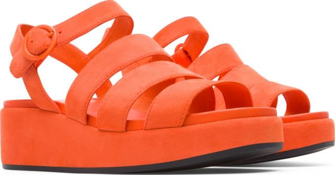 Camper Misia オレンジ サンダル レディース K200796-004