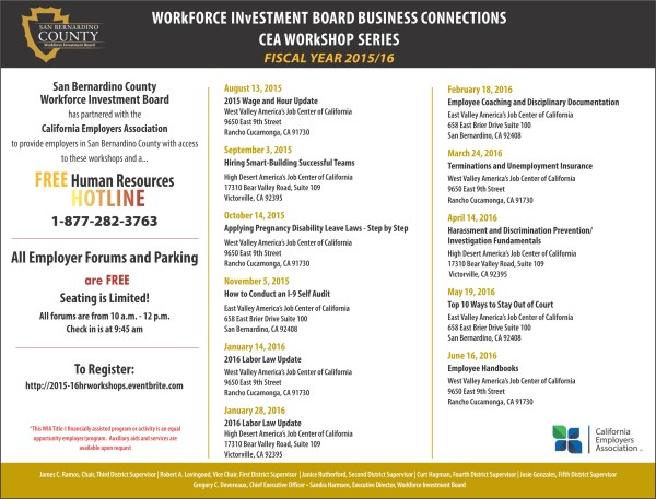 Workforce Investment Board Business Connections CEA ...
