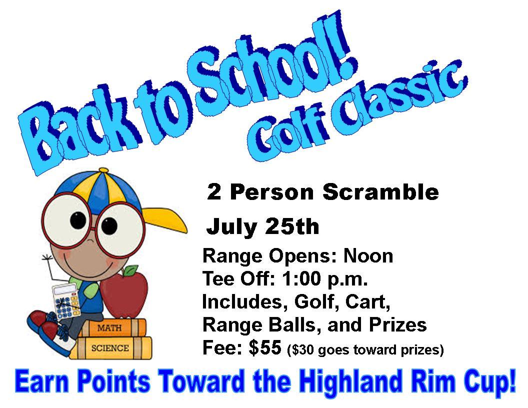 Back To School 2 Person Scramble At Highland Rim