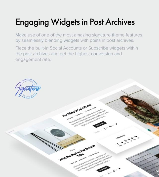 Archive Widgets