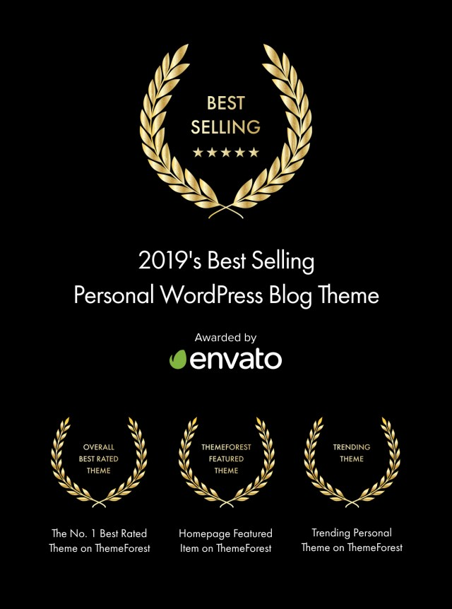 2019's Best Selling Personal WordPress Blog Theme