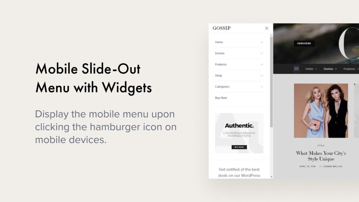 Mobile Slide-Out Menu