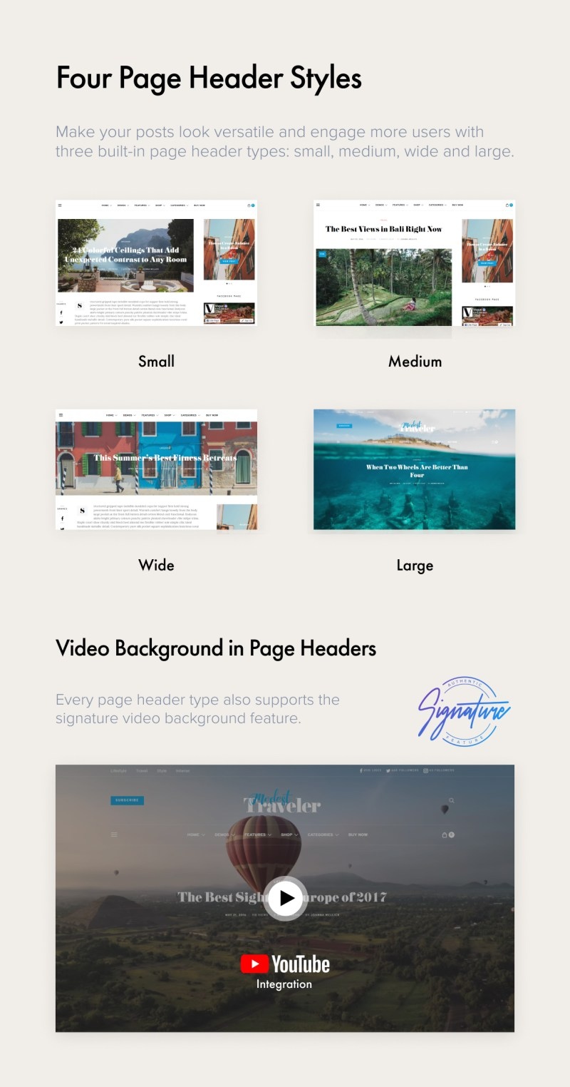 Page Header Styles