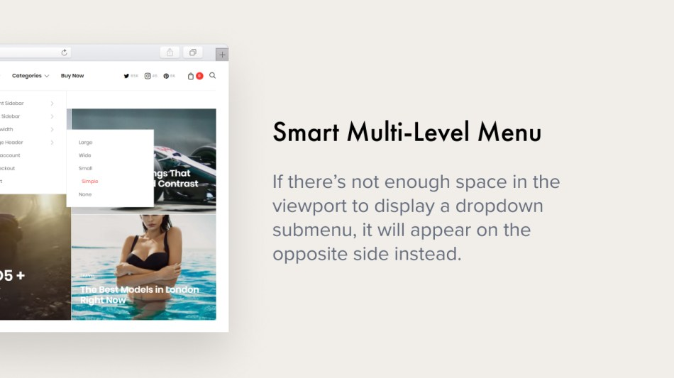 Smart Multi-Level Menu