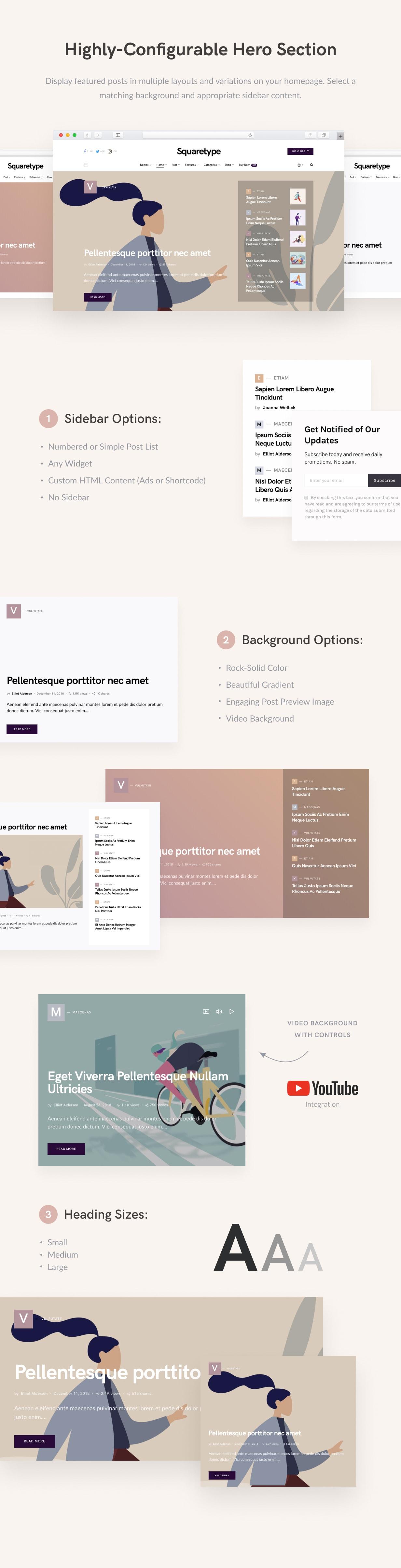 Squaretype - Modern Blog WordPress Theme - 3