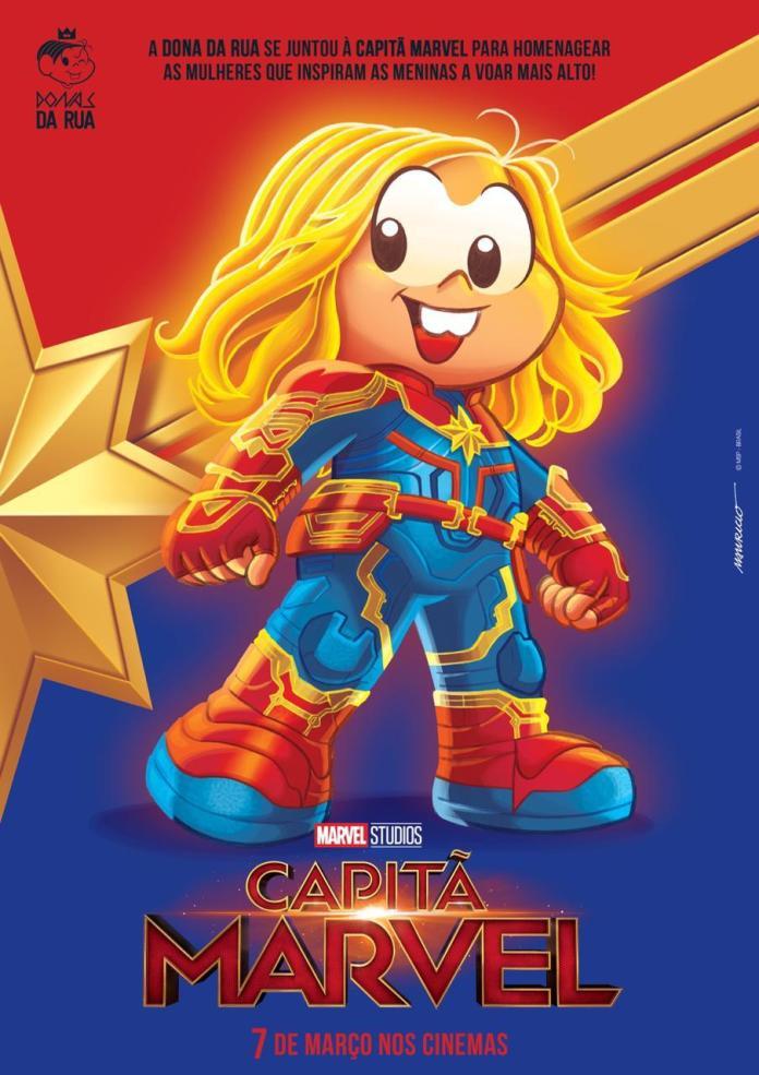 monica Mônica se transforma em Capitã Marvel
