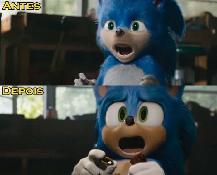 Sonic - Antes e Depois