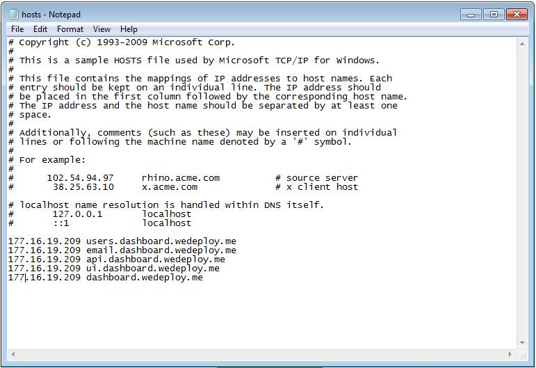 Modifying hosts file to map IP Address to Host name - Jubin