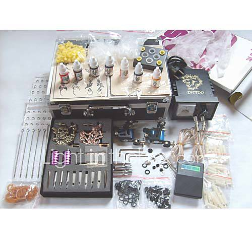 Professional Tattoo Kits With 4 Tattoo Guns - US$ 126.31