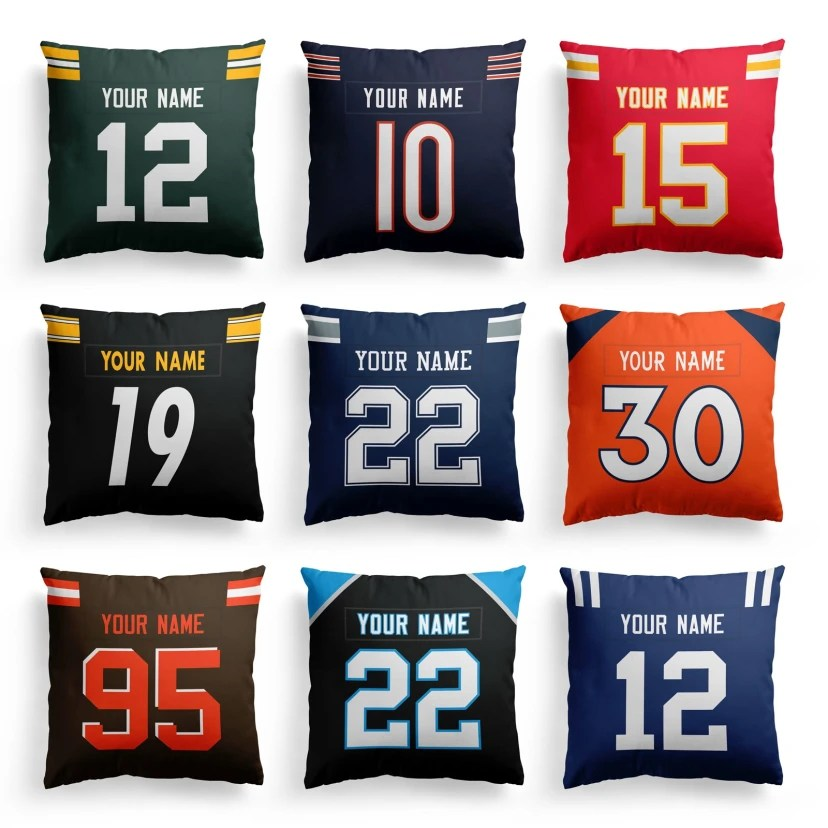 personalized football pillow covers