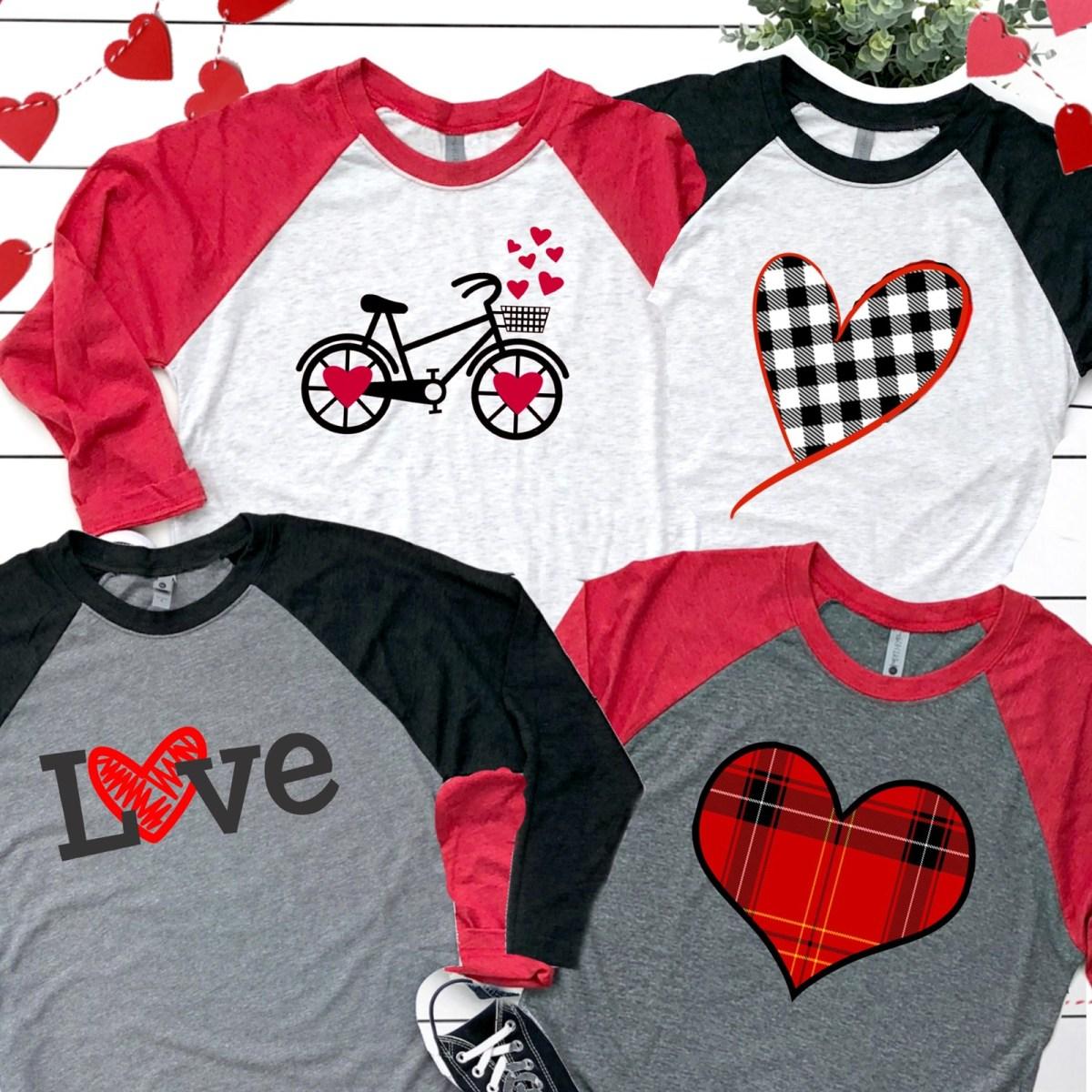 Super Soft Raglan Valentines Day Tees