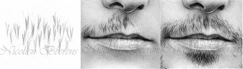 how to draw realistic lips male