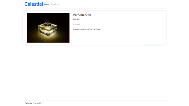 Individual product page