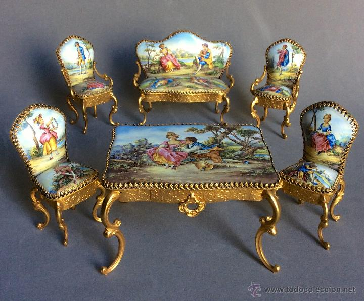 salon de porcelana rococo en miniatura