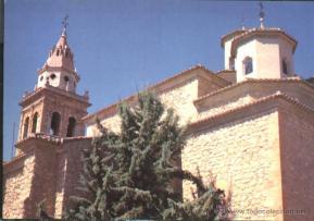 Papercraft imprimible y armable de la Iglesia de San Juan Bautista en las Casas de Ibáñez en Albacete, España. Manualidades a Raudales.