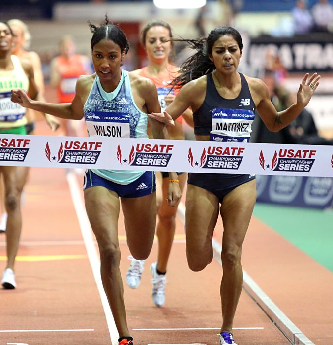 Ajee Wilson and Brenda Martinez, here pictured at the 2016 Millrose Games, are headed to Rio.