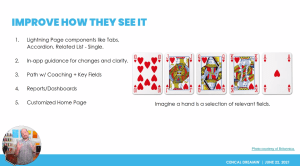Clarify how your Salesforce users see it.