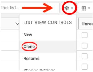 Clone Salesforce List View