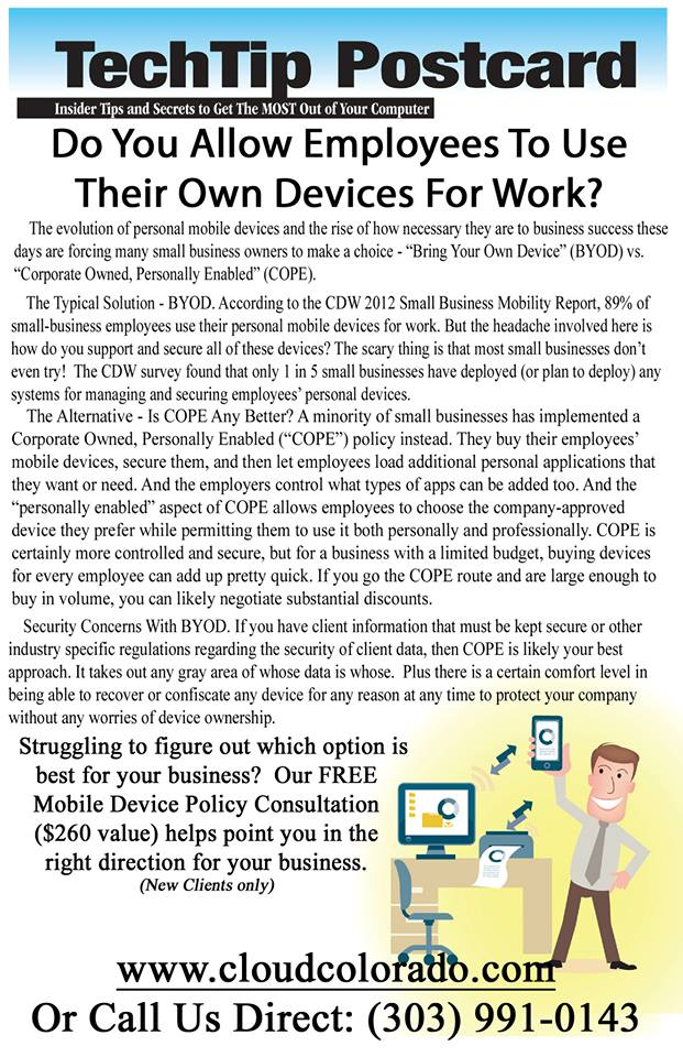 employees use their own devices