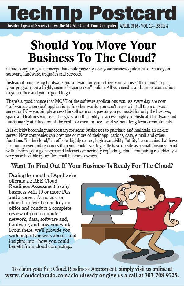 should you move your business to the cloud