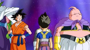 Perfectly fits in Vegeta's shadow.