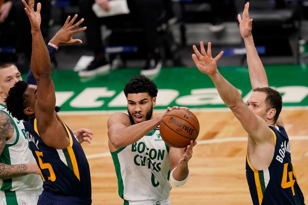 Celtics' Jayson Tatum, Jaylen Brown battle against the Jazz, but Boston  comes up short in 117-109 loss to Utah - masslive.com