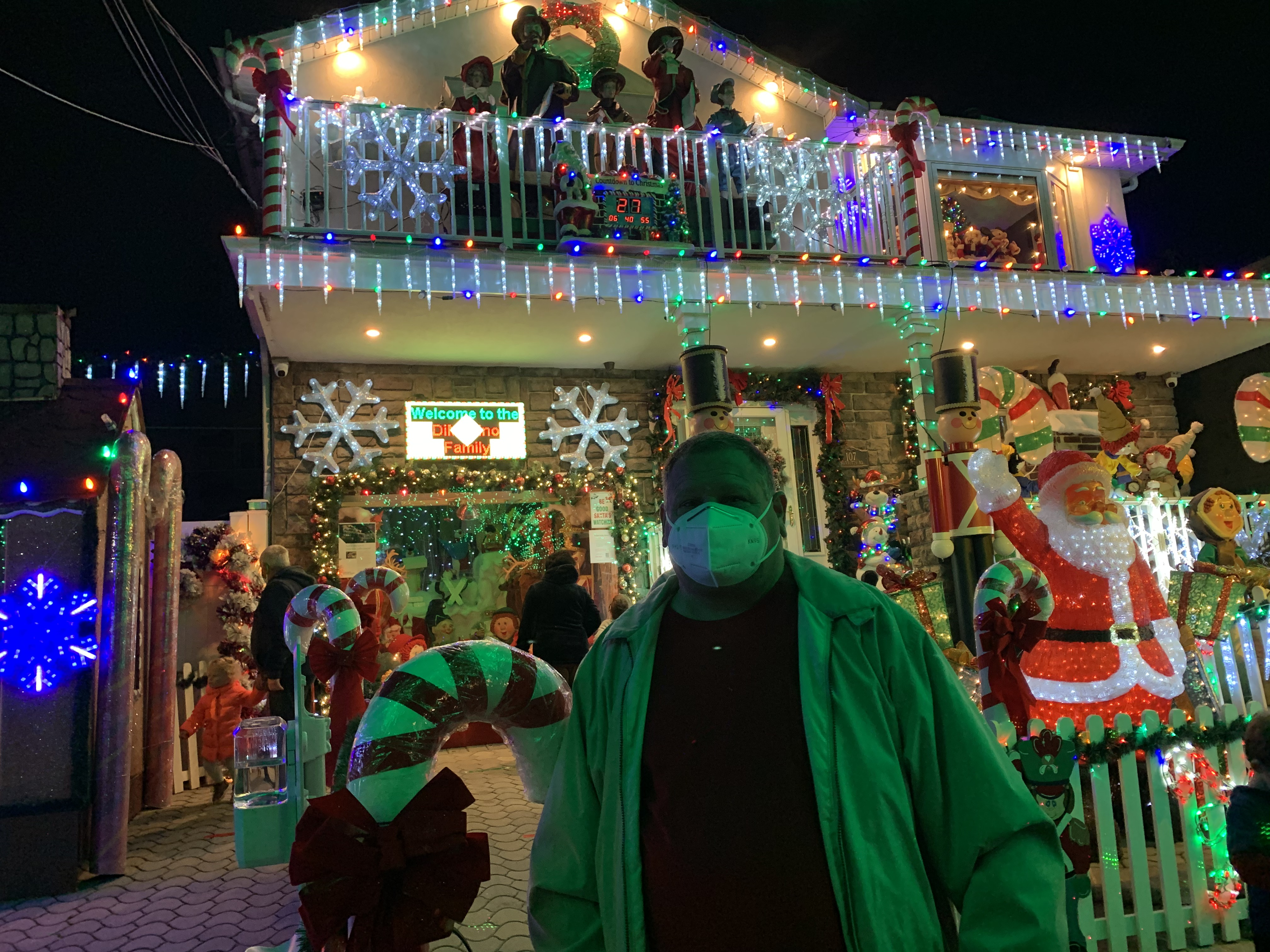 elaborate christmas display for charity