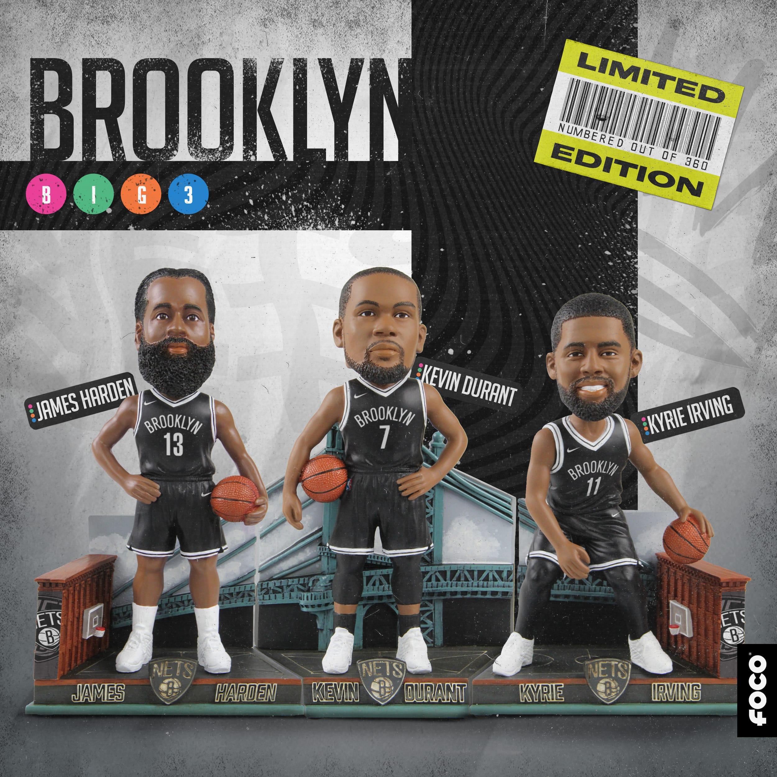 brooklyn nets big 3 bobbleheads set