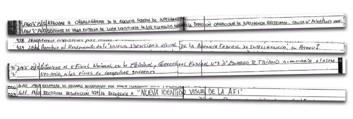 Varias resoluciones asentadas en el libro que llegó a Lomas de Zamora