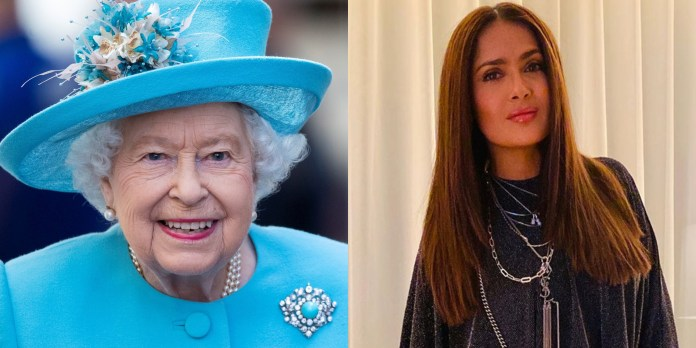 The fortune of the monarch fell short of the mexican actress (Photo: EFE/Instagram@salmahayek)