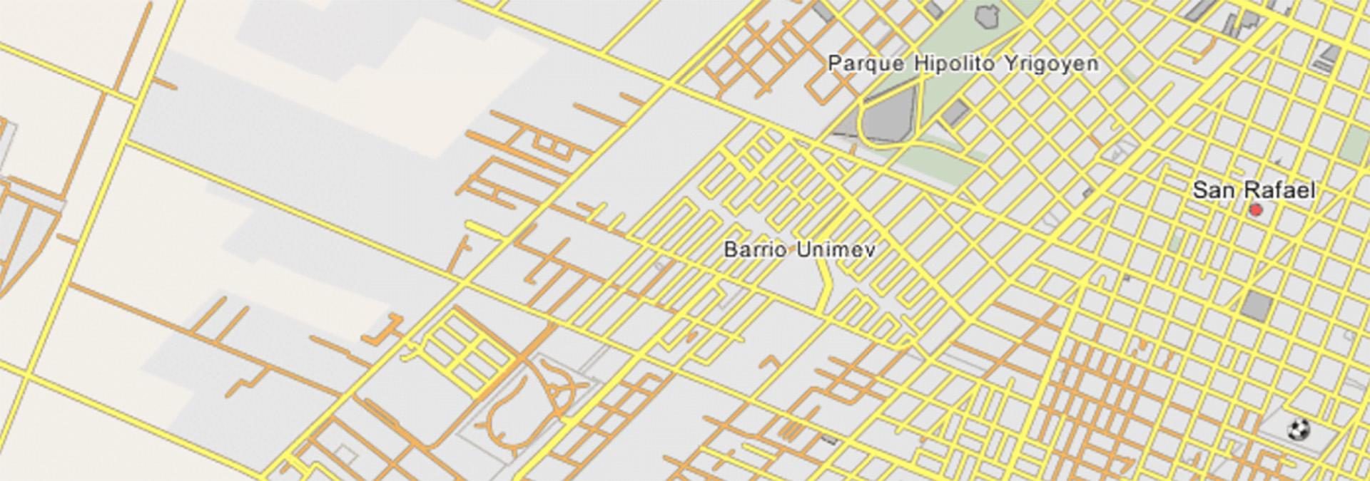 El Barrio Unimev, donde vive Marcelo, está a muy pocas cuadras del centro de San Rafael, Mendoza
