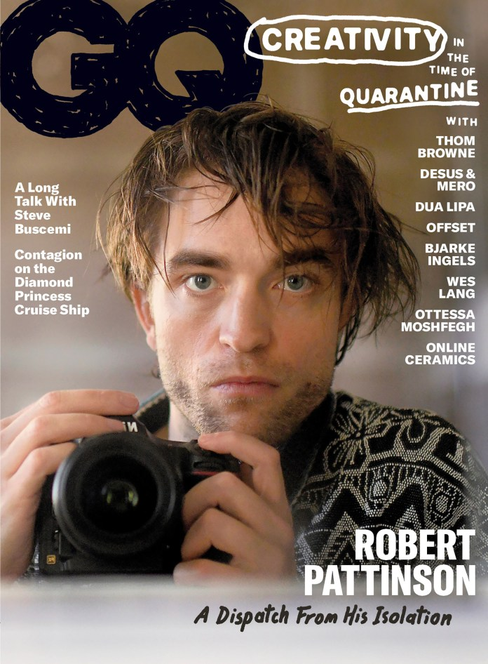 "El actor Robert Pattinson se convierte en tendencia tras publicarse una serie de sus autorretratos, en la revista GQ, titulada""A dispatch From His Isolation""."